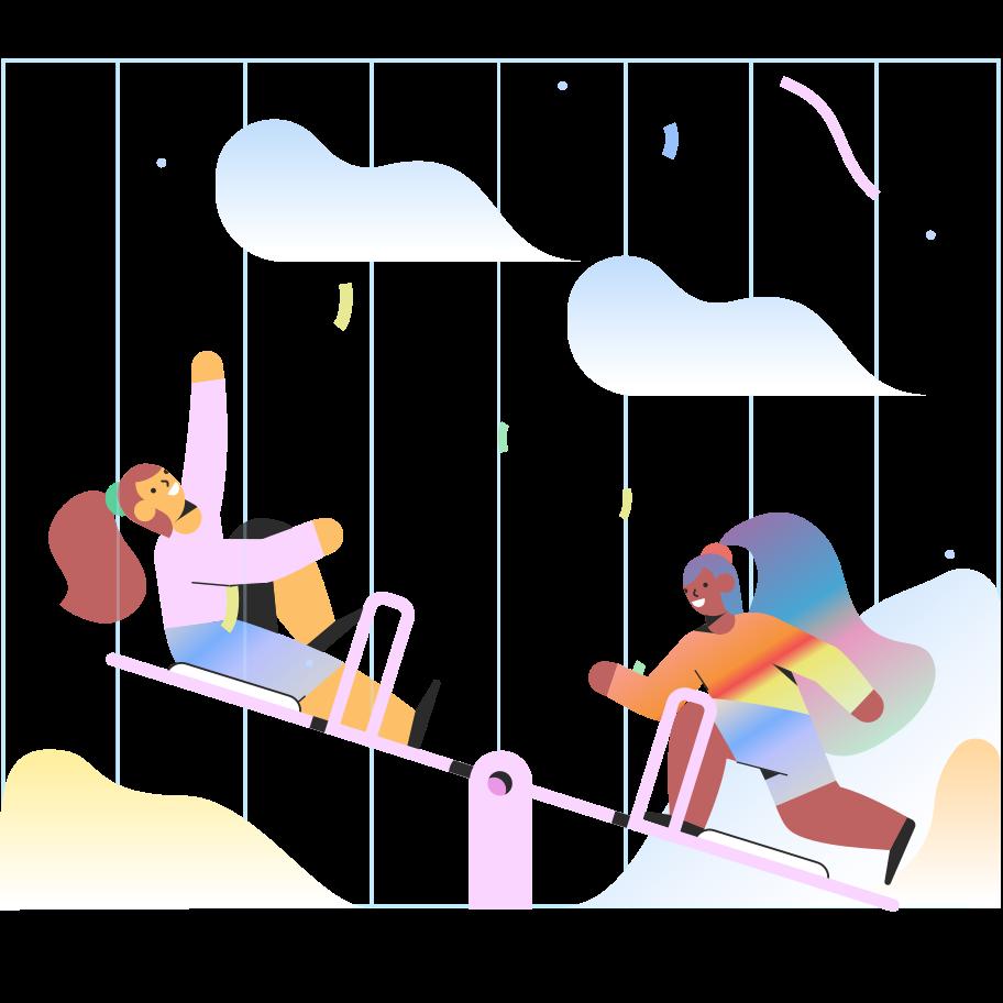 Kinder auf dem spielplatz Clipart-Grafik als PNG, SVG