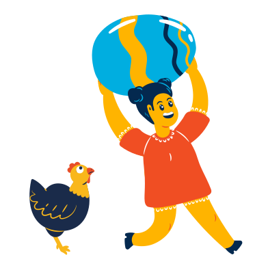 style Girl found a huge egg images in PNG and SVG | Icons8 Illustrations