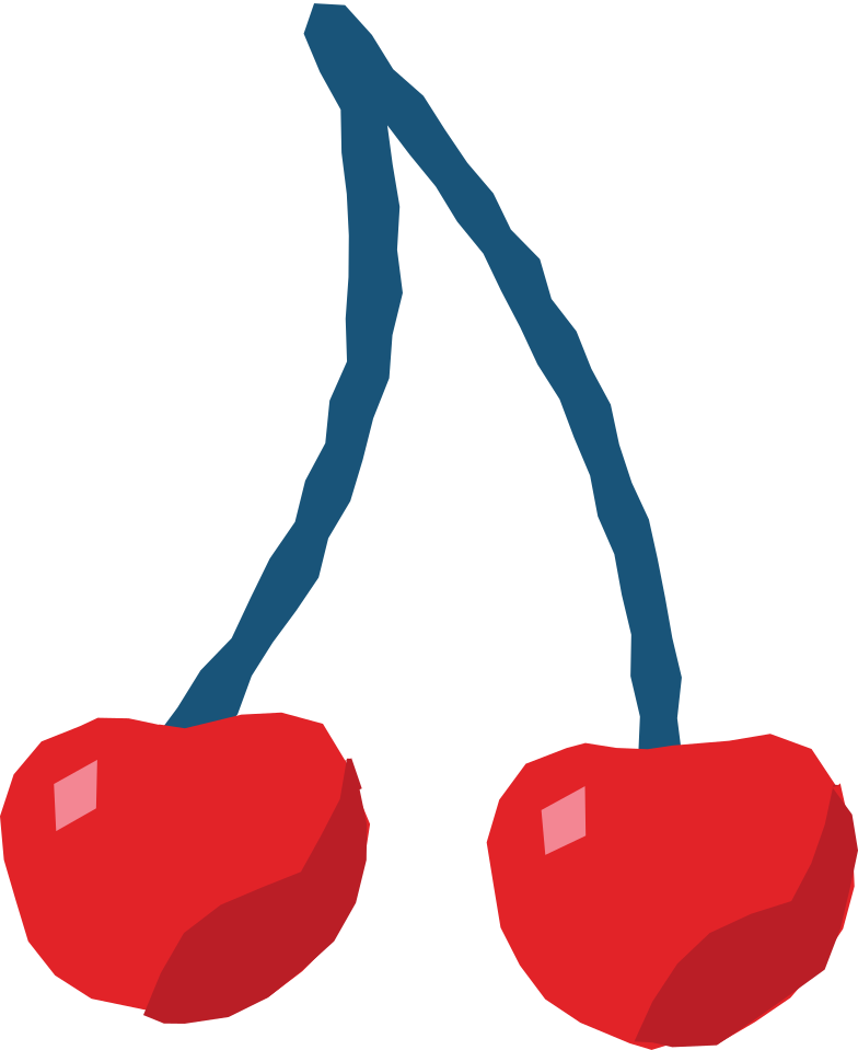 cherry Clipart illustration in PNG, SVG