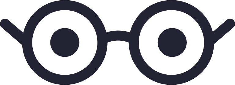 eyes with glasses Clipart illustration in PNG, SVG