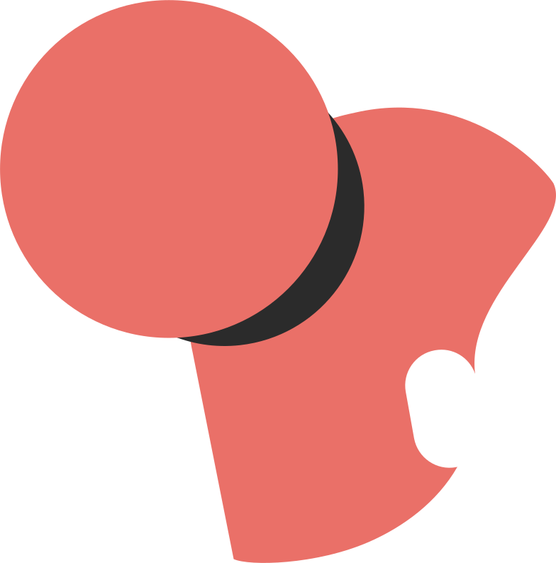 high bun back Clipart illustration in PNG, SVG