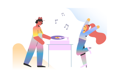 style DJ at the party  images in PNG and SVG | Icons8 Illustrations