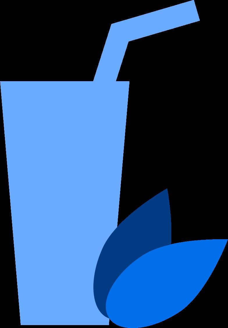 Ilustración de clipart de coctel vegano en PNG, SVG