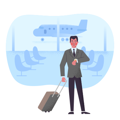 style Flight delay images in PNG and SVG | Icons8 Illustrations
