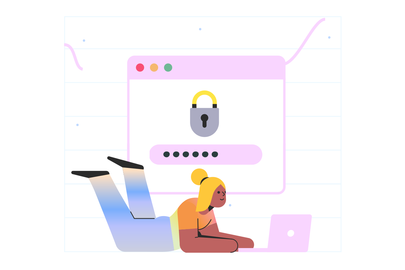 Strong password Clipart illustration in PNG, SVG