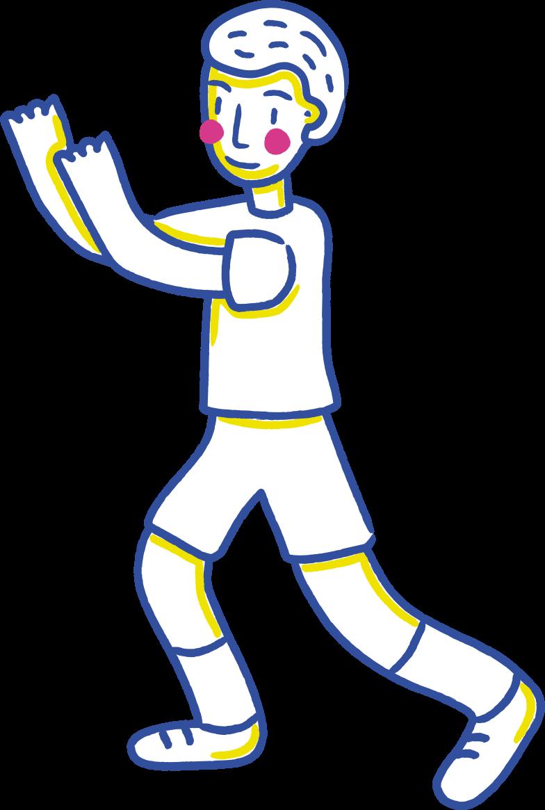 hands up boy Clipart illustration in PNG, SVG
