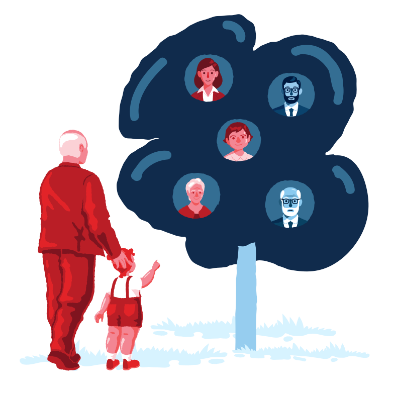 Family tree Clipart illustration in PNG, SVG