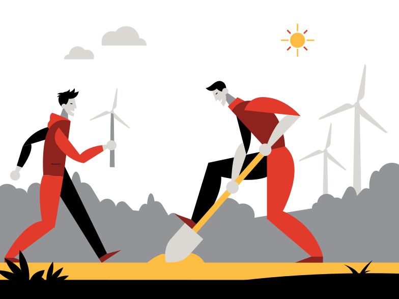 Eco energy Clipart illustration in PNG, SVG