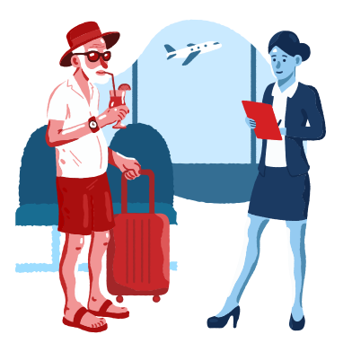 style Boarding on a plane images in PNG and SVG | Icons8 Illustrations