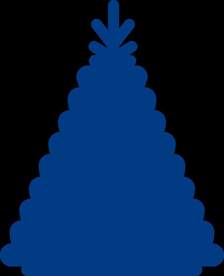 Ilustración de clipart de new year tree en PNG, SVG