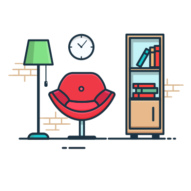 style Reading room images in PNG and SVG | Icons8 Illustrations