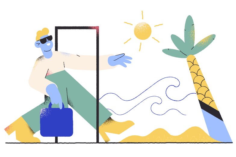 Going on a vacation Clipart illustration in PNG, SVG