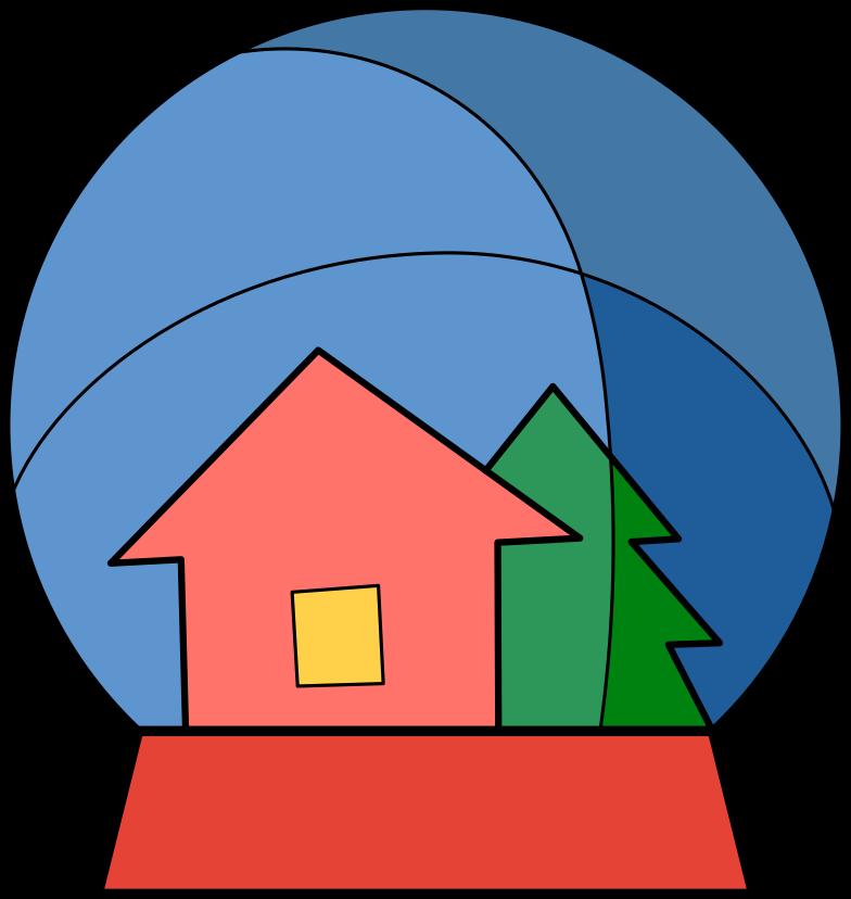 Schneekugel Clipart-Grafik als PNG, SVG