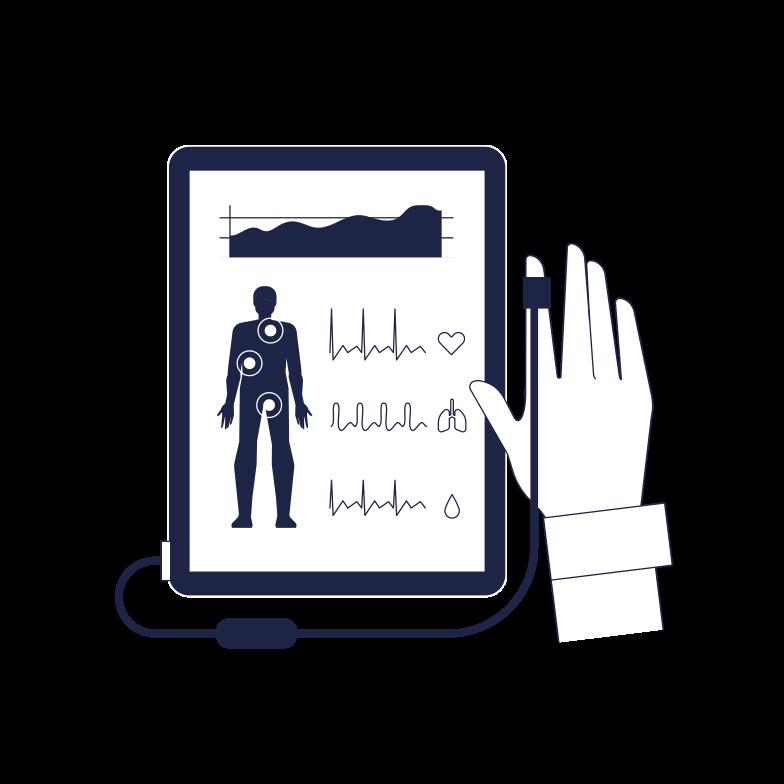 Medical Self Control Clipart illustration in PNG, SVG