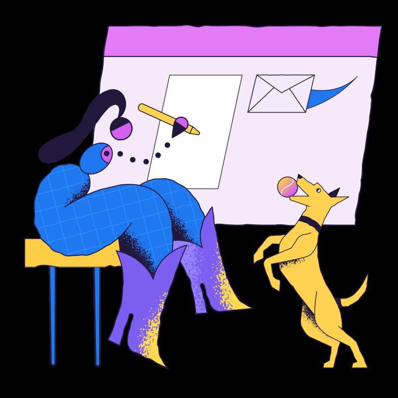 Trabalhando em casa Clipart illustration in PNG, SVG