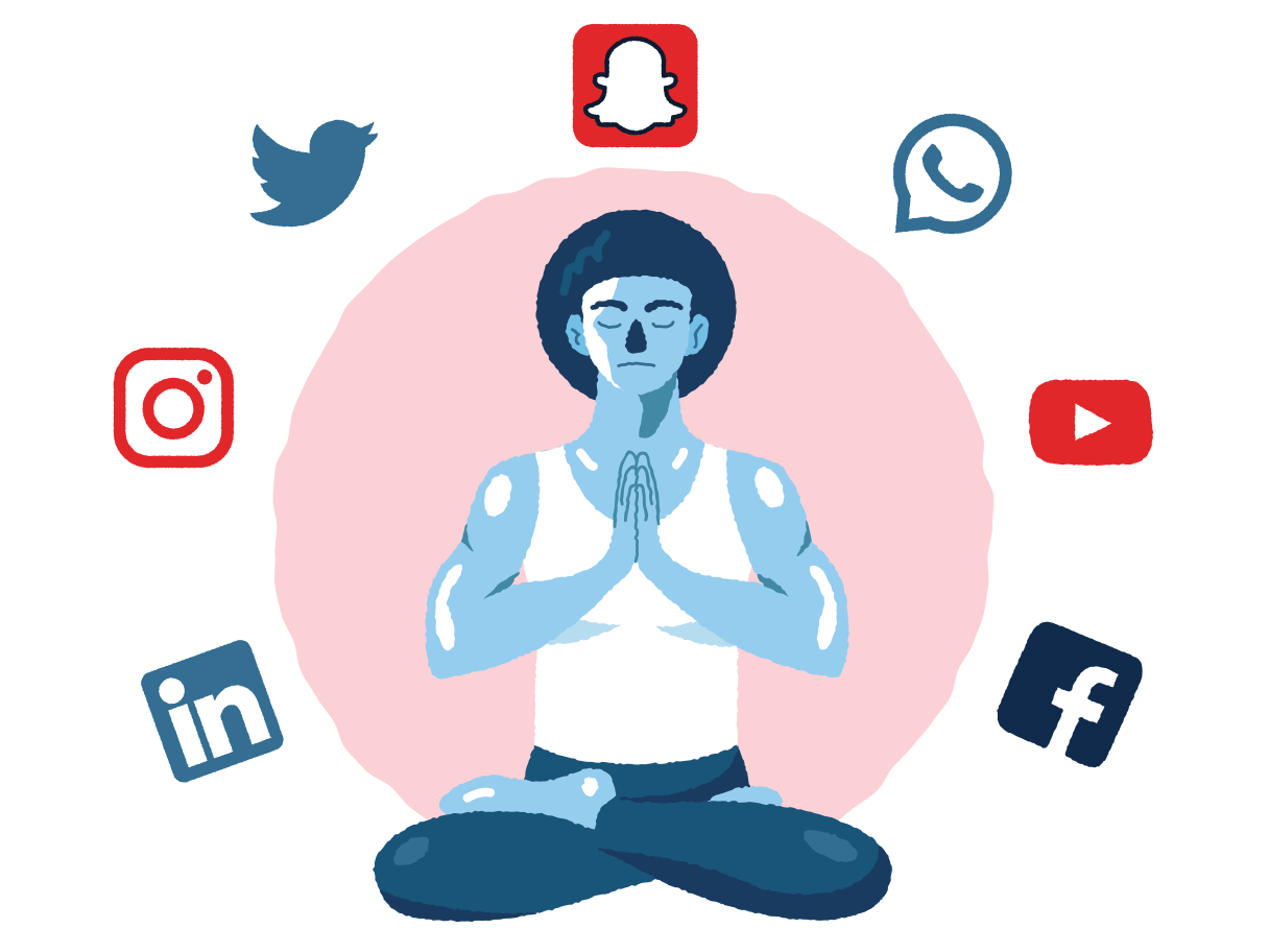 style A day without social media Vector images in PNG and SVG | Icons8 Illustrations