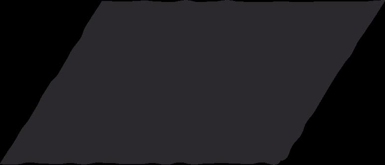 parallelogram black Clipart illustration in PNG, SVG