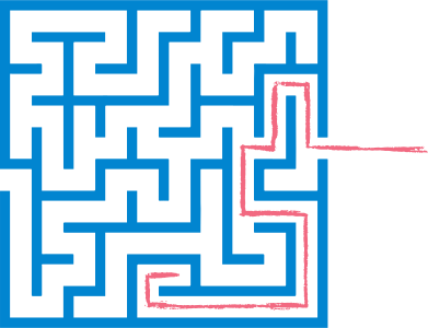 style red path maze images in PNG and SVG | Icons8 Illustrations