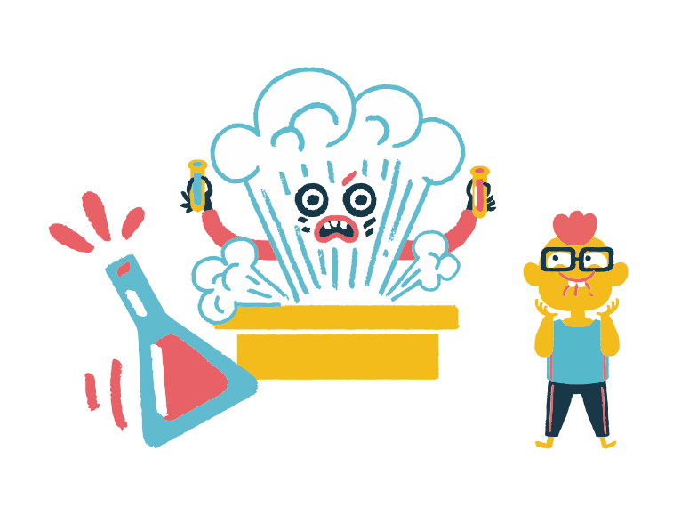 Сhemistry lessons Clipart illustration in PNG, SVG