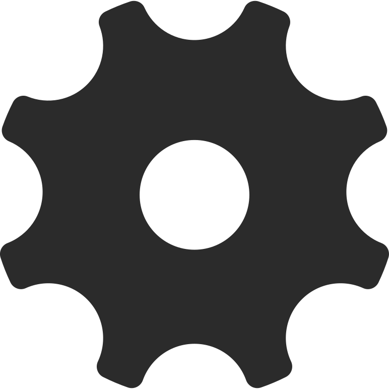 gear shadow Clipart illustration in PNG, SVG