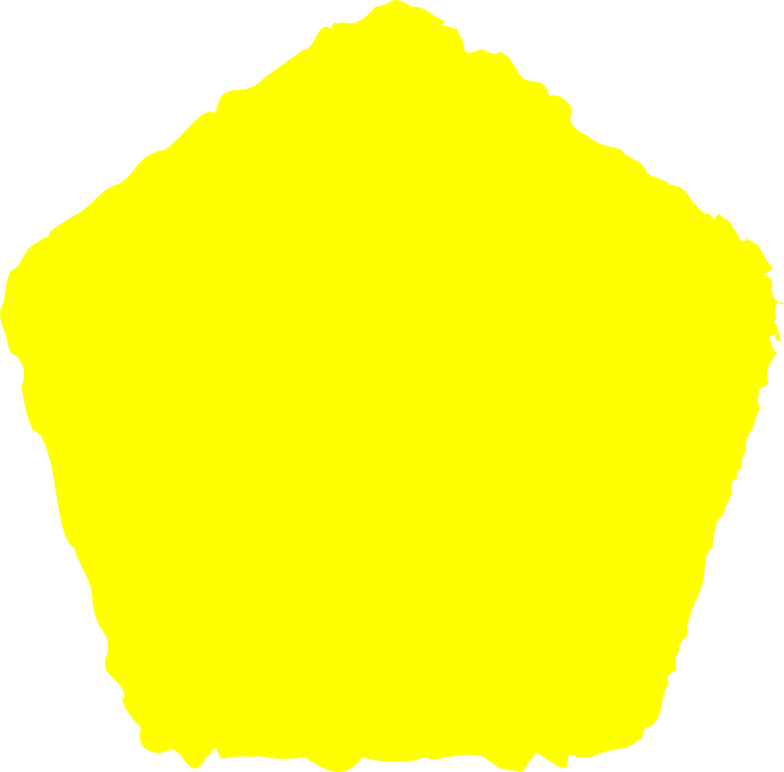 pentagon yellow Clipart illustration in PNG, SVG