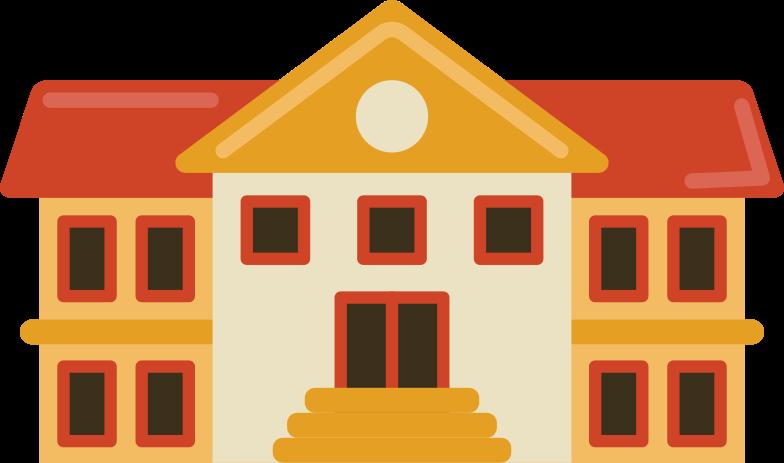 school building Clipart illustration in PNG, SVG