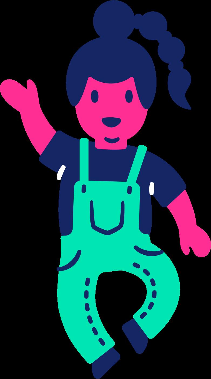 child dancing Clipart illustration in PNG, SVG