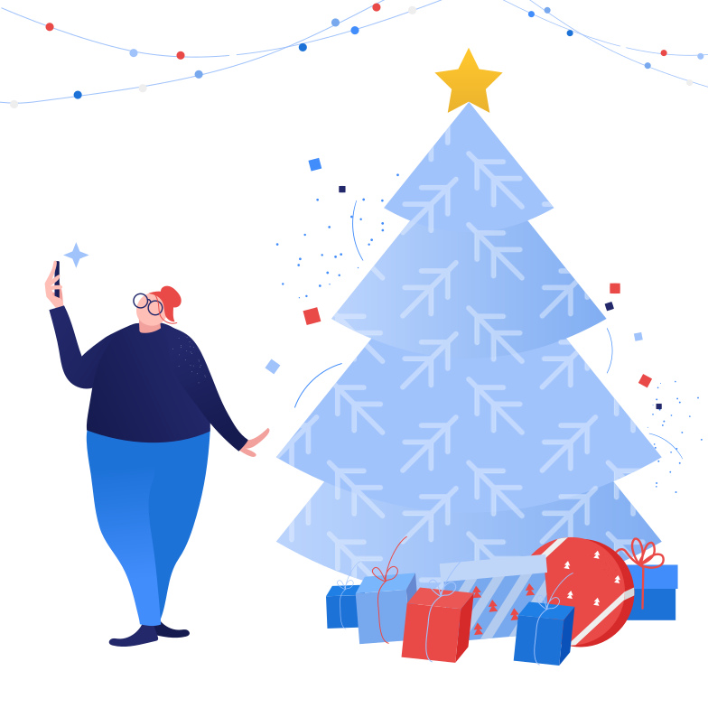 Christmas selfie Clipart illustration in PNG, SVG