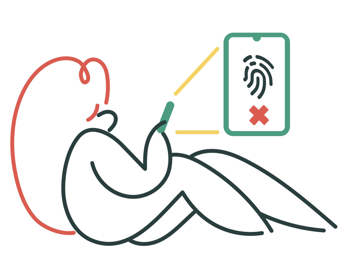 Touch identification failed Clipart illustration in PNG, SVG