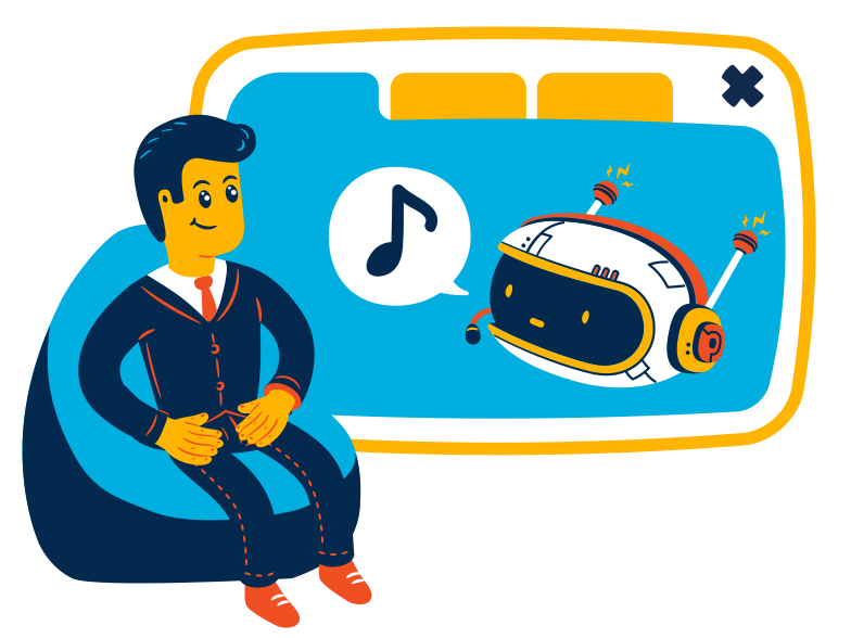 Music assistant Clipart illustration in PNG, SVG