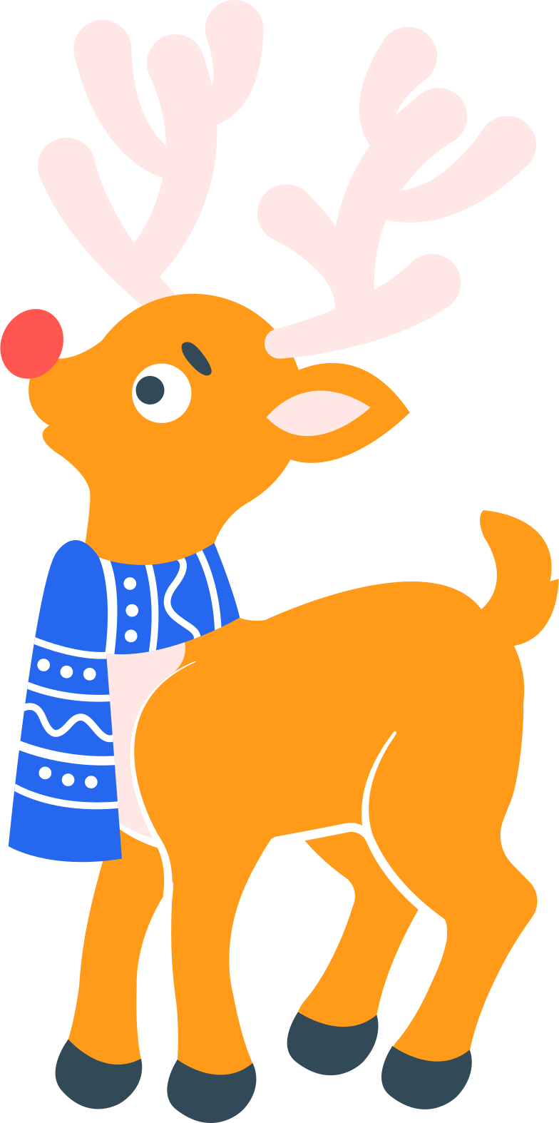Ilustración de clipart de Ciervo de navidad en PNG, SVG