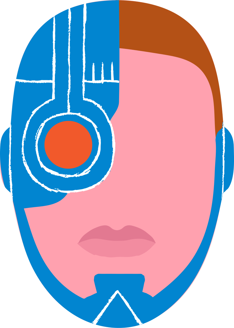 cyborg Clipart illustration in PNG, SVG