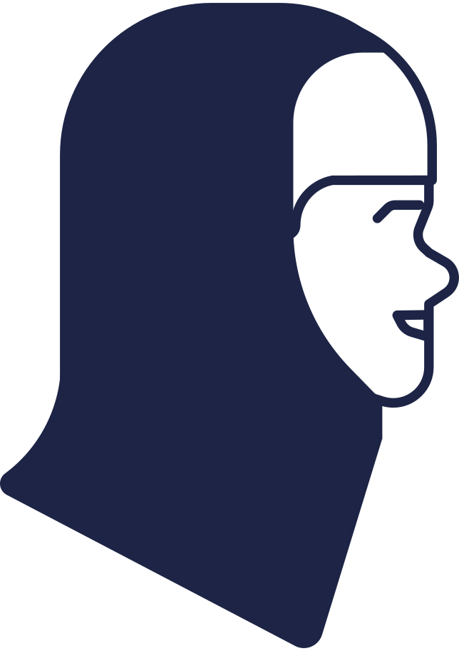 style woman head in hijab Vector images in PNG and SVG   Icons8 Illustrations