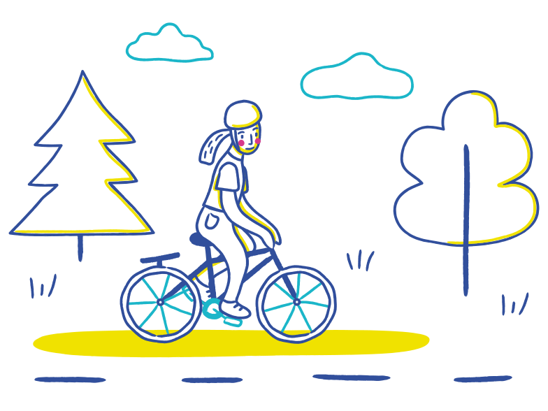 style Bicycle ride Vector images in PNG and SVG | Icons8 Illustrations