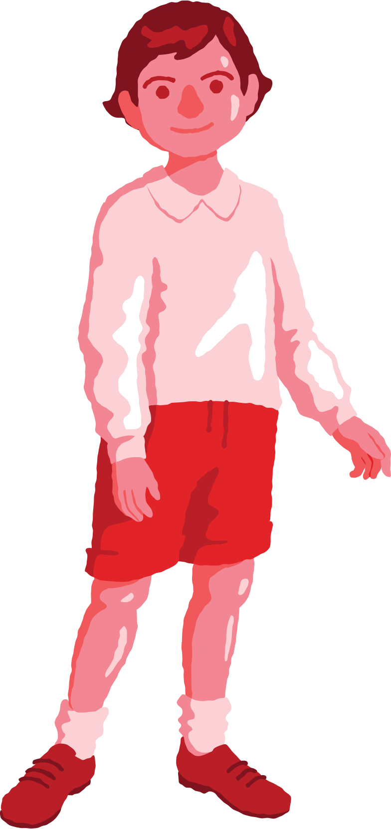 boy standing front Clipart illustration in PNG, SVG