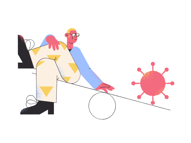 style Man swinging with a virus Vector images in PNG and SVG | Icons8 Illustrations