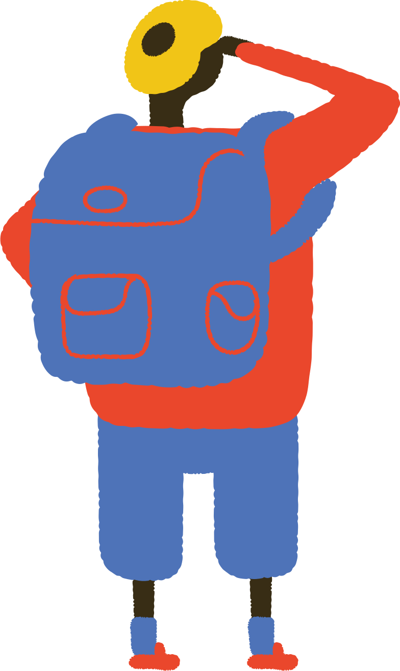 man with backpack Clipart illustration in PNG, SVG
