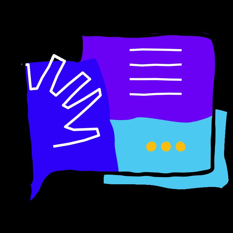 Illustration clipart Message de la boîte de réception aux formats PNG, SVG