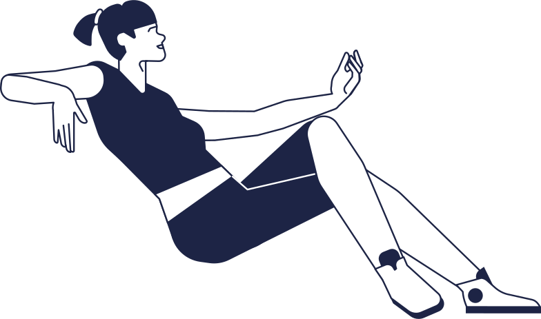 woman sitting line Clipart illustration in PNG, SVG