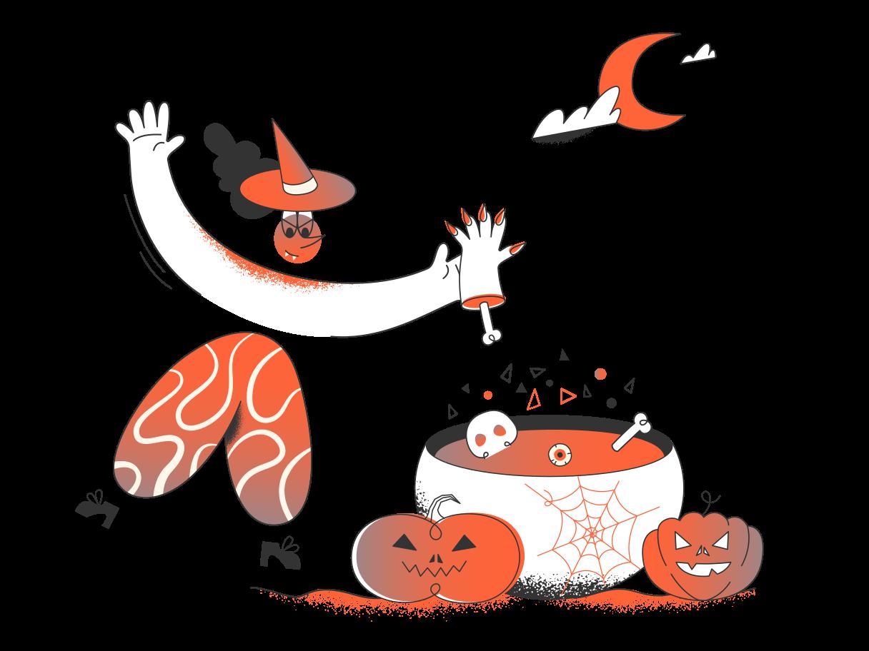 Halloweennacht Clipart-Grafik als PNG, SVG