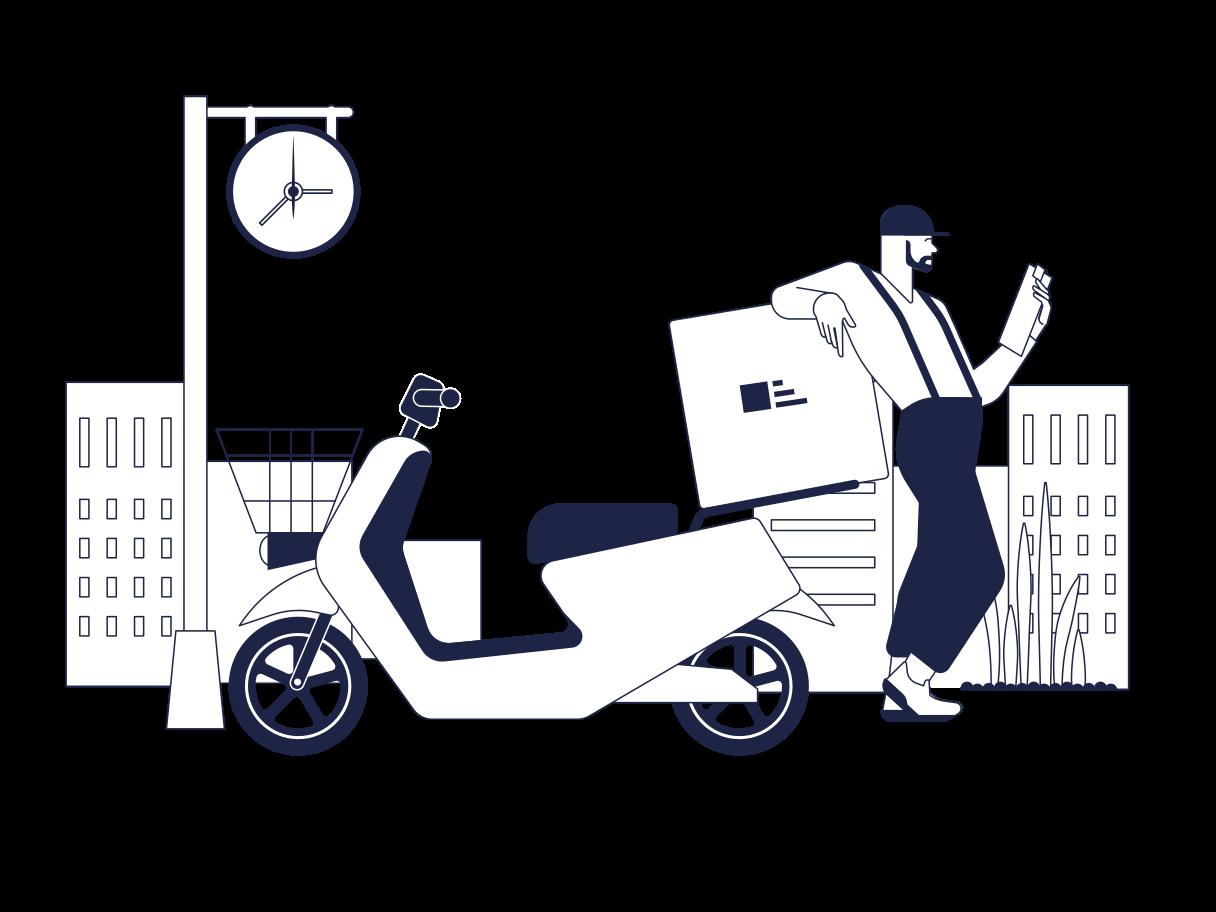 Food Delivery Clipart illustration in PNG, SVG