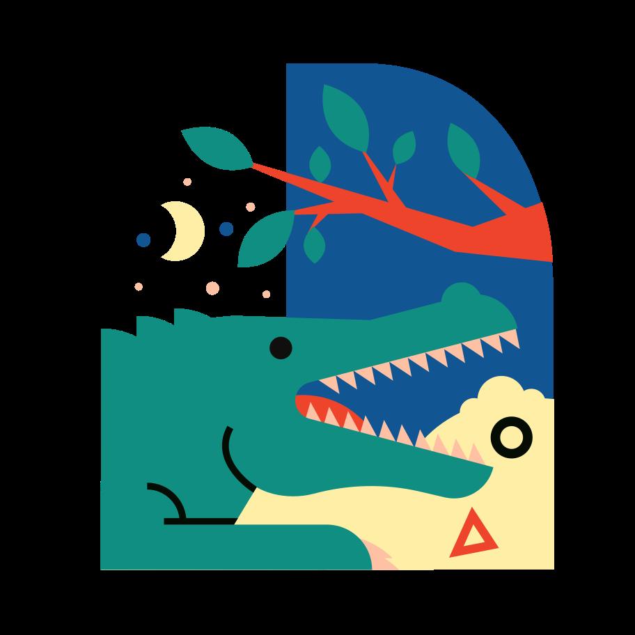 Crocodile Clipart illustration in PNG, SVG
