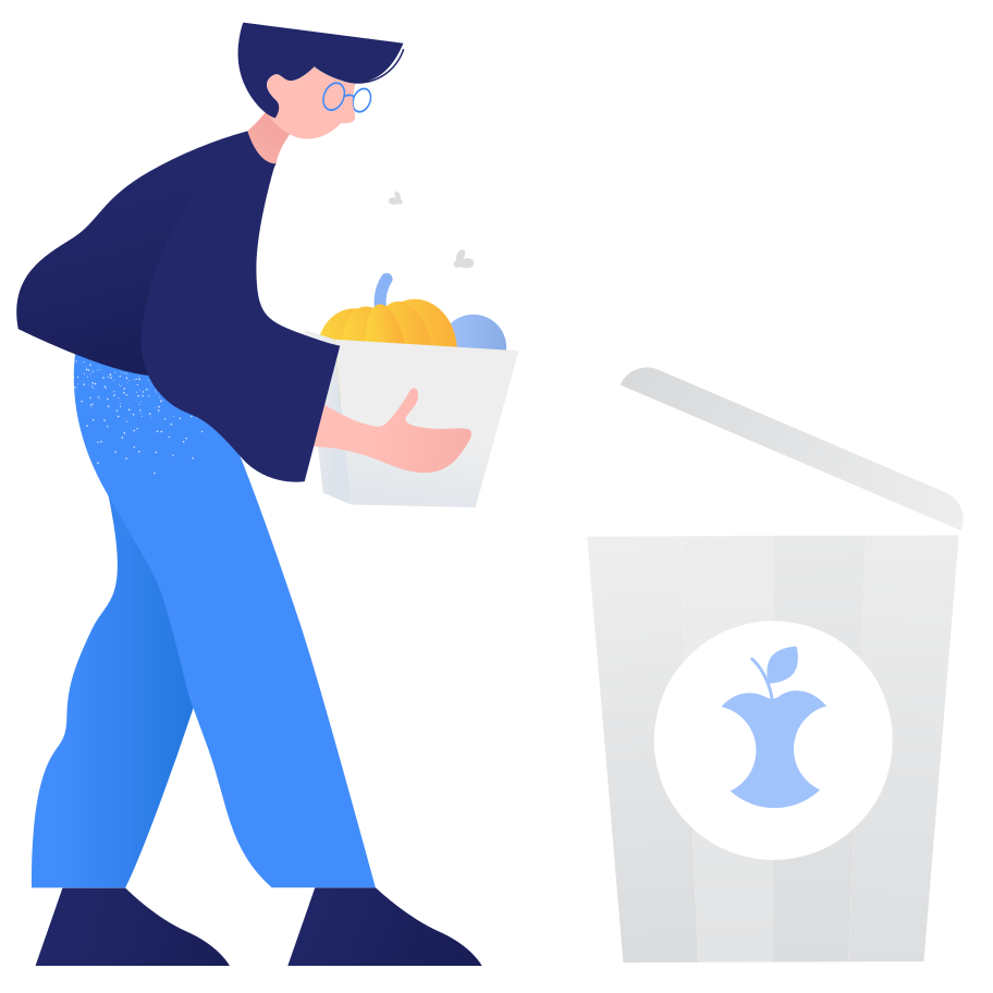 Waste sorting- organic Clipart illustration in PNG, SVG