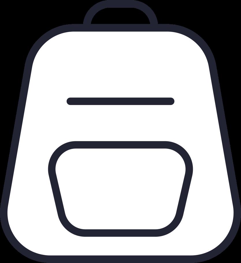 online shopping  backpack Clipart illustration in PNG, SVG