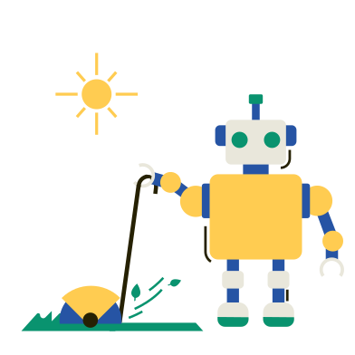 style Robot Gardener images in PNG and SVG | Icons8 Illustrations