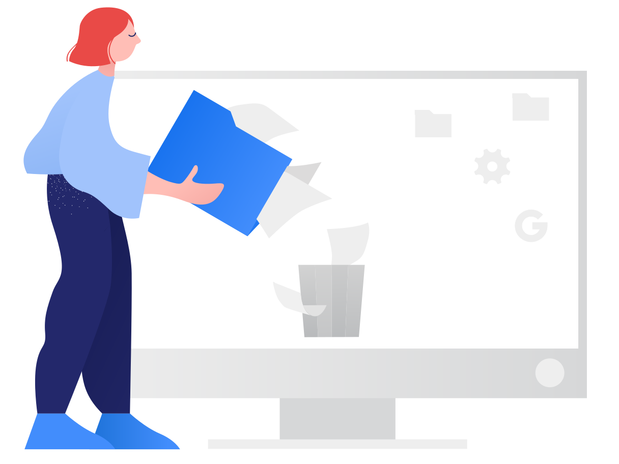 style Deleting files Vector images in PNG and SVG | Icons8 Illustrations