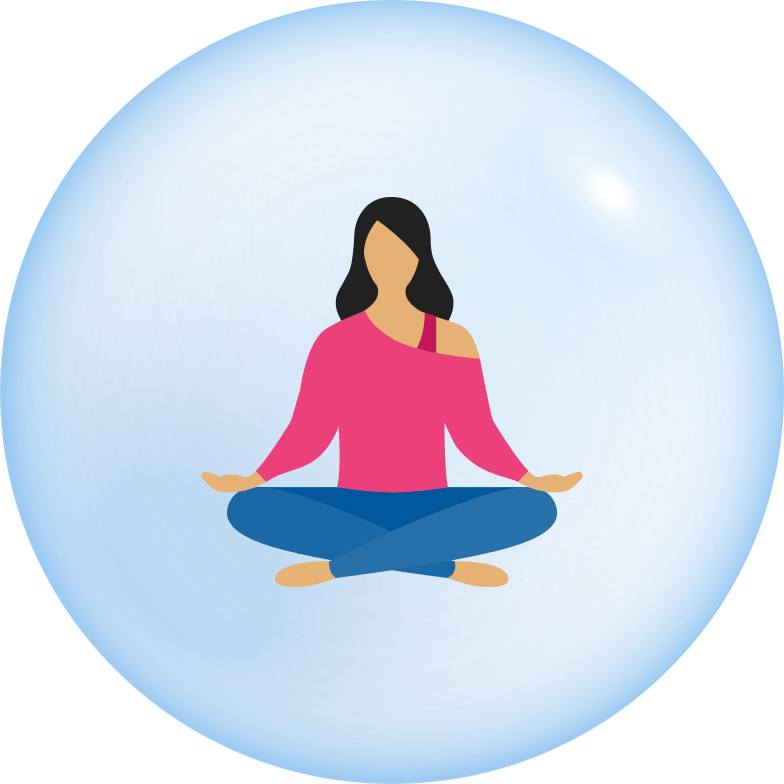 style woman in bubble self isolation Vector images in PNG and SVG | Icons8 Illustrations