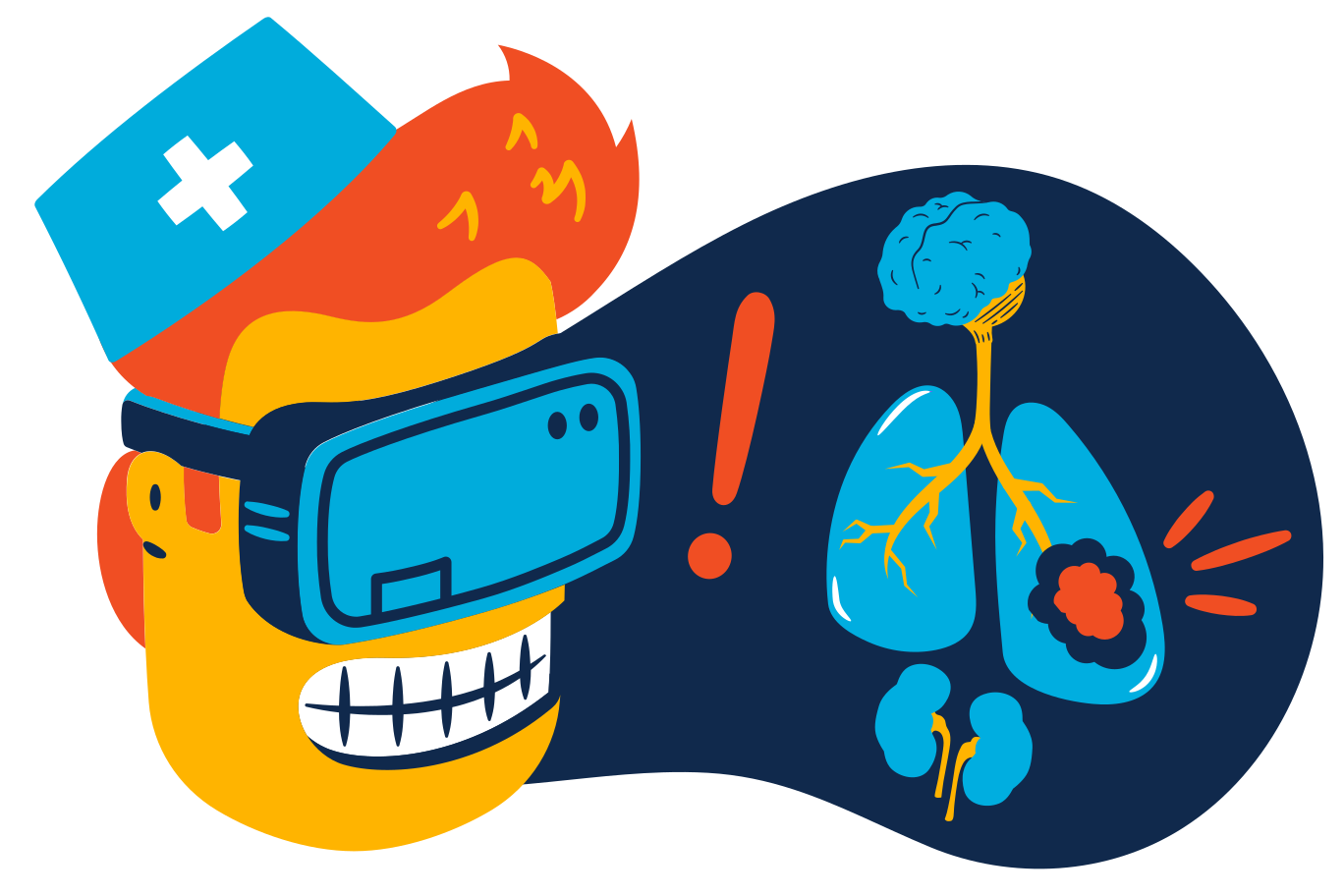 VR medical examination Clipart illustration in PNG, SVG