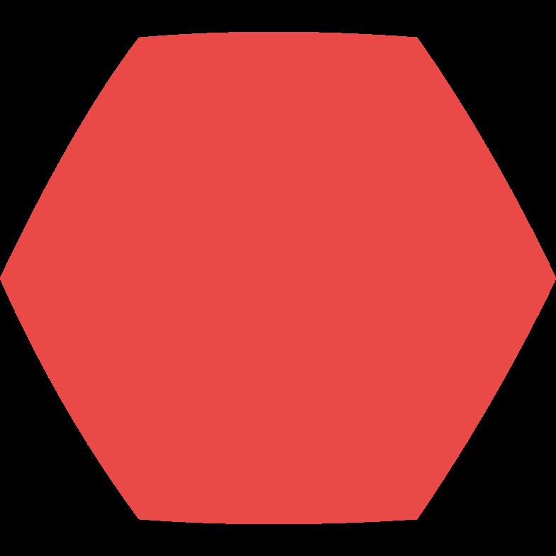 Sechseck rot Clipart-Grafik als PNG, SVG