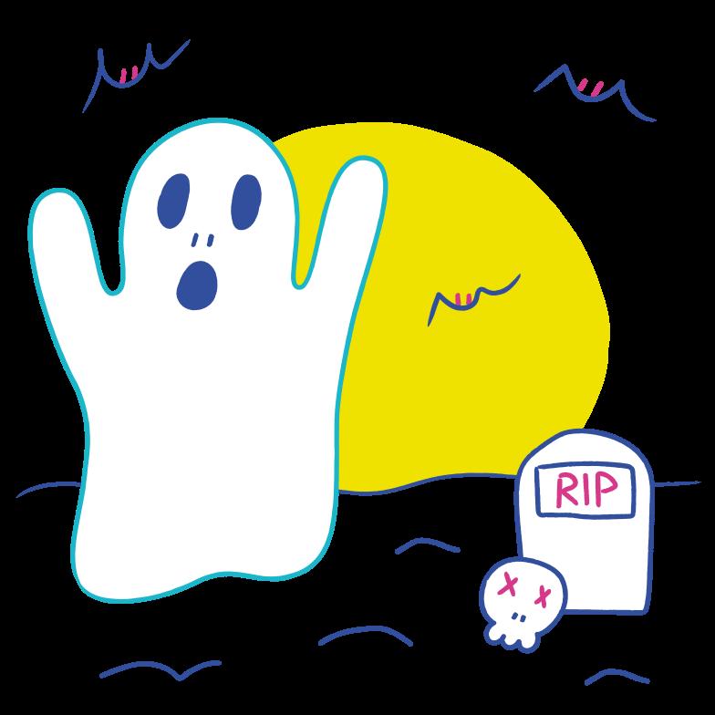 Иллюстрация Призрак хэллоуина в стиле  в PNG и SVG | Icons8 Иллюстрации